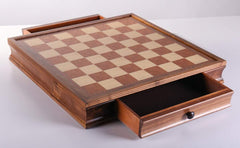 "DEAL ITEM: 19"" Camphor Wood Chessboard with Storage Garage Sale"