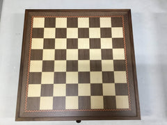 "DEAL ITEM:19"" English Chess Set with Pull-out Storage Drawers - Brown - Open Box - Chess-House"