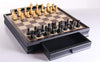 "DEAL ITEM: 19"" English Chess Set with Pullout Storage Drawers - Black"