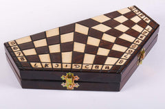 DEAL ITEM: 3 Player Small Wood Chess Set (JUST THE BOARD) Garage Sale