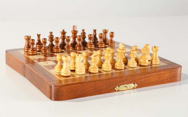 "DEAL ITEM: 7.5"" Folding Pegged Chess Set - Garage Sale - Chess-House"