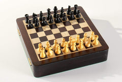"DEAL ITEM: 7.5"" Magnetic Storage Chess Set Garage Sale"