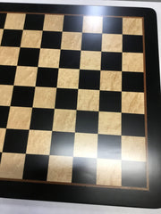 DEAL ITEM: Black Berliner On Black Birdseye Board - Chess Set - Chess-House