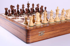 DEAL ITEM: Deluxe English Wooden Chess Set with Storage Garage Sale