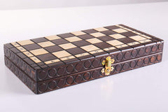 "DEAL ITEM: KINGS Wooden Chess Set, 11 1/4"" Square (JUST THE BOARD) Garage Sale"