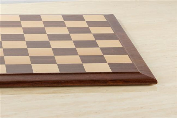 "DEAL ITEM: Queen Anne 21"" Hardwood Player's Chessboard 2.25"" Squares JLP, USA"
