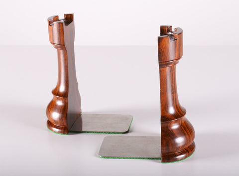 DEAL ITEM: Rook Style Book Ends - Piece - Chess-House