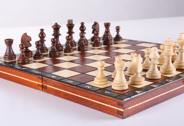 "DEAL ITEM: School Chess - 10.5"" Wood Chess Set Garage Sale"