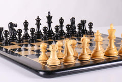 "DEAL ITEM: Staunton Ebony Chess Set - 19"" Garage Sale"