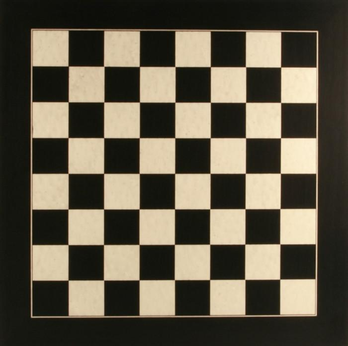 Deluxe Black Anigre And Whitened Erable Chess Board   Board   Chess House