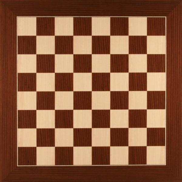 DeLuxe Macassar and Maple Chess Board - Board - Chess-House
