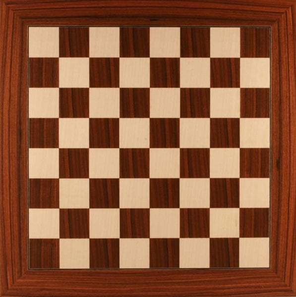 Deluxe Santos Palisander and White Maple Chess Board - Board - Chess-House