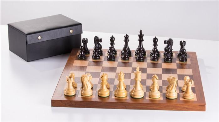 Deluxe Solid Wood Staunton Chess Set