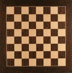 Deluxe Tiger Ebony and Maple Chess Board - Board - Chess-House