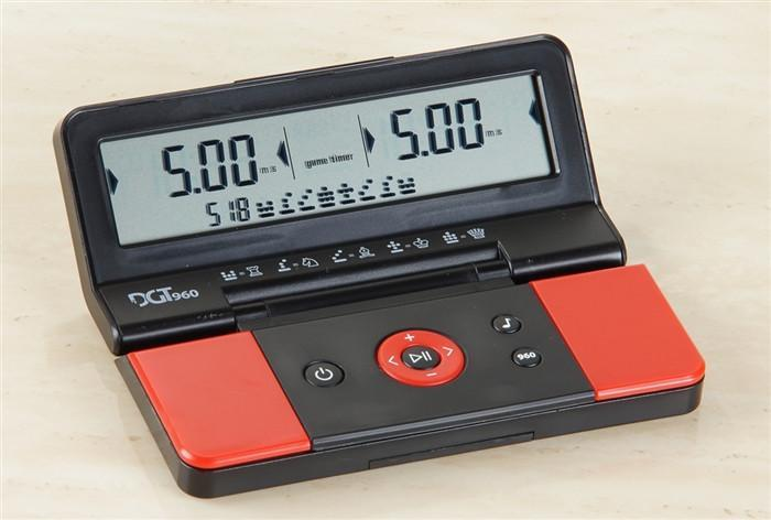 DGT 960 Digital Chess Clock - Red Black - Chess Clocks and Timers