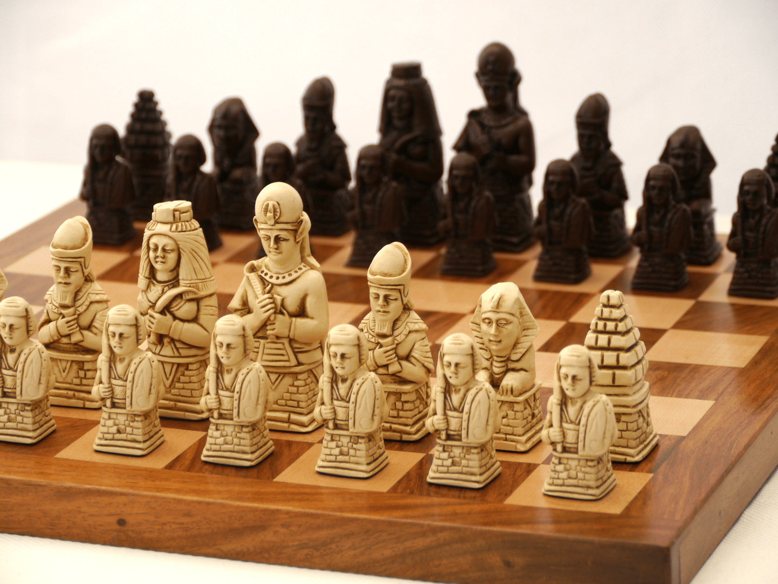 Egyptian Chess Pieces by Berkeley - Russet Brown -  Chess Pieces