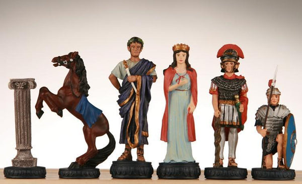 Egyptian vs Roman Handpainted Polyresin Chessmen - Piece - Chess-House
