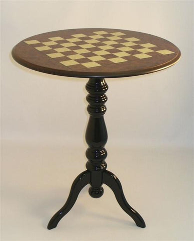 "Elm Briarwood Satin Table - 2"" Squares - Table - Chess-House"