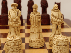 English Chess Pieces by Berkeley - Cardinal Red - Piece - Chess-House