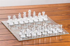 Etched Glass Chess Set - Chess Set - Chess-House