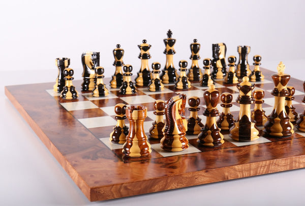 Exotic Zagreb Inlay Chess Set - Chess Set - Chess-House