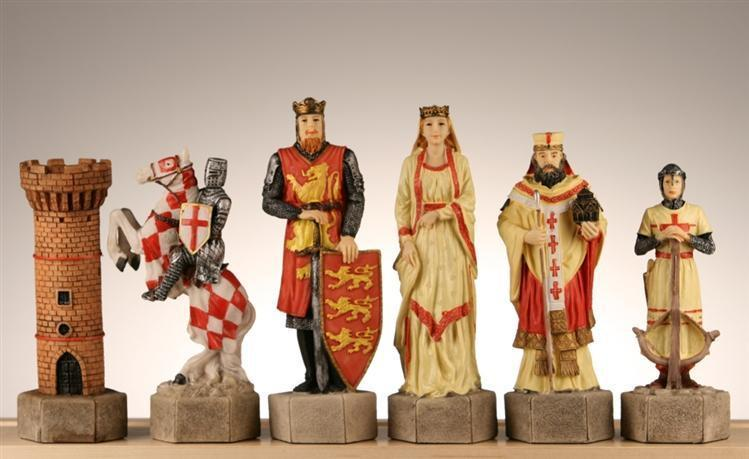 extra large crusades iii medieval chess pieces chess house