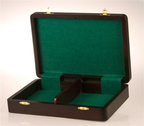 "Flat Wooden Chess Box (for most 3.5 to 3.75"" pieces) - Box - Chess-House"