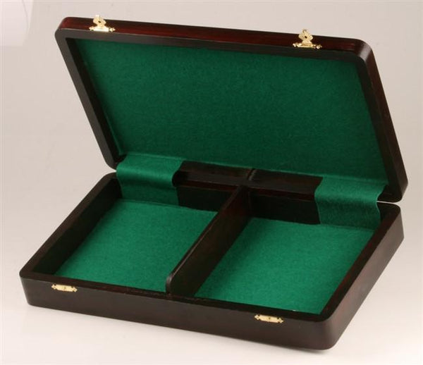 "Flat Wooden Chess Box (for most 4 to 4.5"" pieces) - Box - Chess-House"