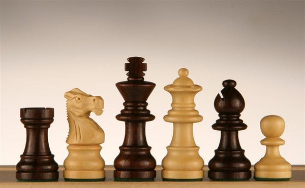 "French Staunton Chess Pieces in Rosewood/Boxwood - 2"" - Piece - Chess-House"
