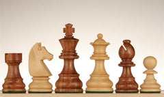 "French Staunton Chessmen - Sheesham / Kari Wood - 3"" - Piece - Chess-House"
