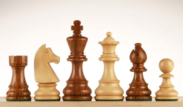 French Staunton Chessmen - Sheesham / Kari Wood - 3 3/4