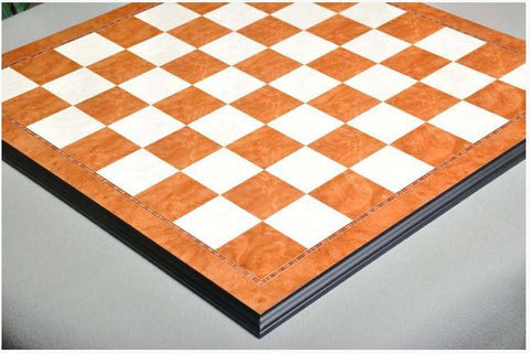 GARAGE SALE: Elm Burl and Bird's Eye Maple Superior Traditional Chess Board - Garage Sale - Chess-House