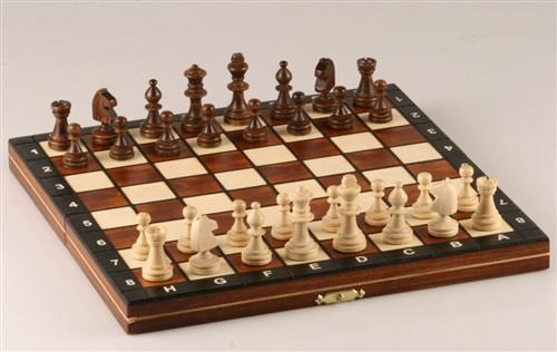 "GARAGE SALE ITEM: 10.5"" Magnetic Wooden Travel Chess Game (BLACK) - Garage Sale - Chess-House"