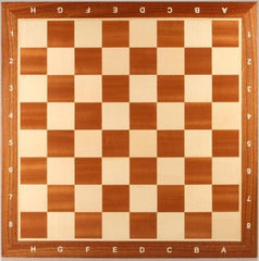 "GARAGE SALE ITEM: 19"" Wooden Chess Board with coordinates - Mahogany - Garage Sale - Chess-House"