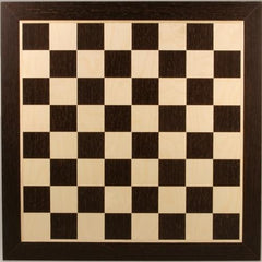 "GARAGE SALE ITEM: 21 1/4"" Wooden Chess Board - Wenge & Sycamore - Garage Sale - Chess-House"