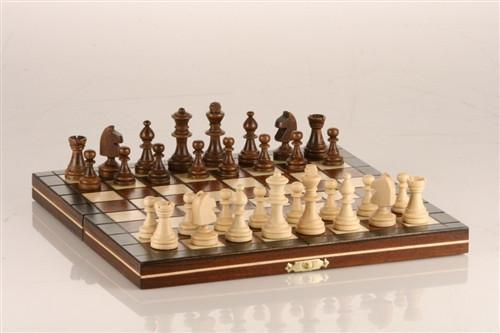 "GARAGE SALE ITEM: 9.5"" Mini Magnetic Wooden Travel Chess Game - Garage Sale - Chess-House"