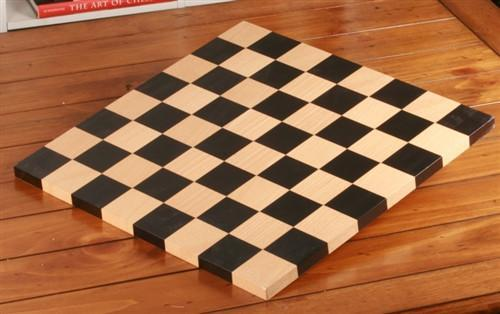GARAGE SALE ITEM: Beech Chess Board - Garage Sale - Chess-House