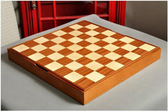 "GARAGE SALE: Mahogany and Maple Wooden Tournament Casket - 2.25"" Squares - Garage Sale - Chess-House"