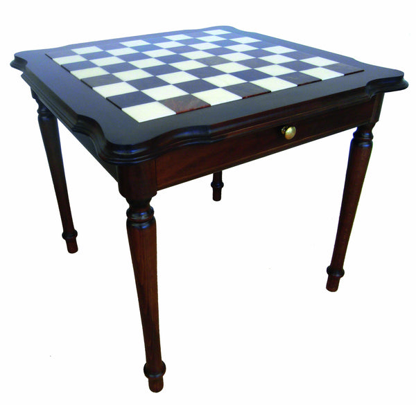 Genuine Italy Alabaster Chess Table - Table - Chess-House