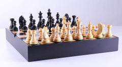 German Staunton Chessmen with Maple Storage Board - Chess Set - Chess-House