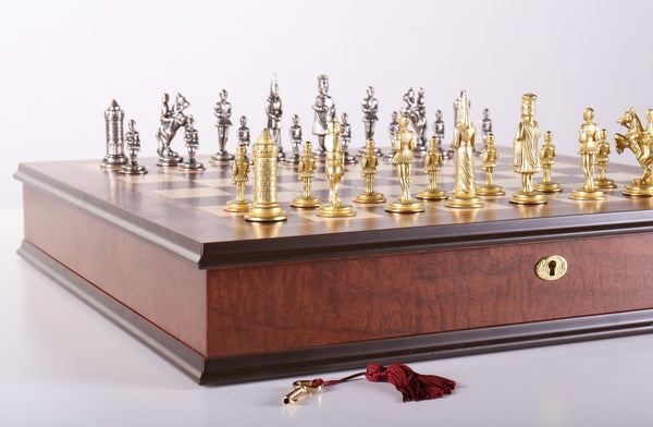 Gothic Chess Set with Cabinet Storage Board - Chess Set - Chess-House