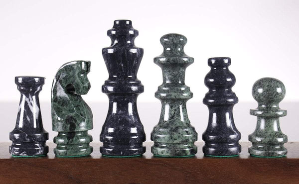 Green and Black Marble Chess Pieces Piece