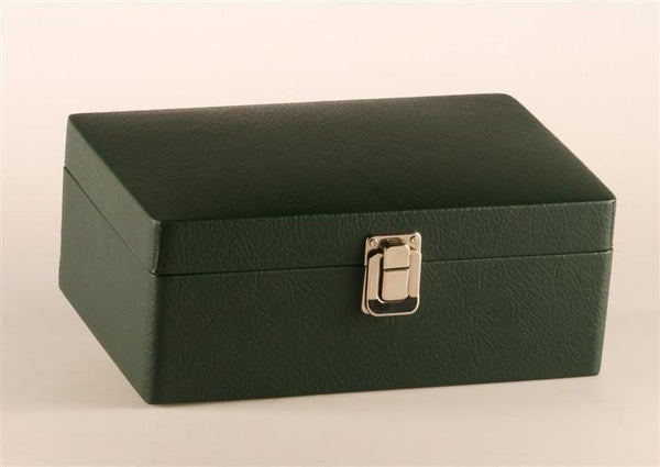 "Green Leather Styled Box (for most 3.5 to 3.75"" chess pieces) - Box - Chess-House"