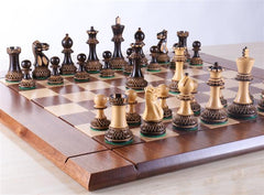 Heirloom Burnt Finish Grandmaster Chess Set - Chess Set - Chess-House