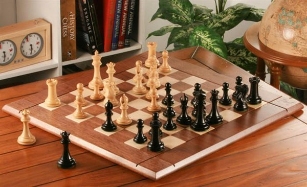 Heirloom Collector Chess Set and Board Combination - Ebony - Chess Set - Chess-House