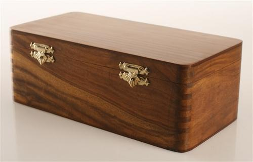 Hinged Box in Golden Rosewood (for most 3.5
