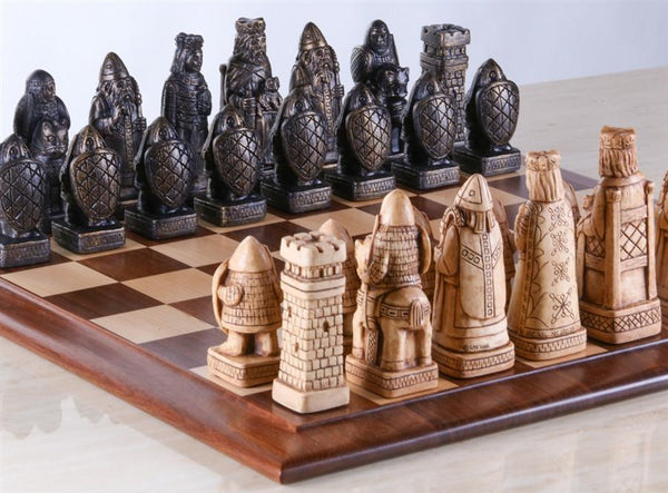 House Of Hauteville Chess Set And Board Combo Antique
