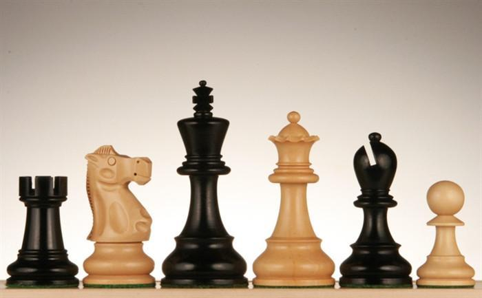 Jacques Chessmen - Black Stained Kari Wood 4 inch - Chess Pieces