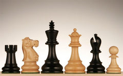 "Jacques Chessmen - Black Stained Kari Wood 4"" - Piece - Chess-House"