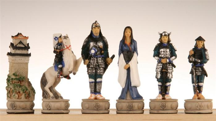 Japanese Samurai Chess Pieces II - Chess Pieces
